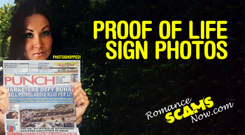 RSN™ ANTI-SCAM TIP: Proof Of Life / Sign Photos