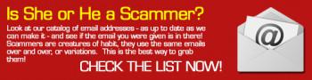 Romance Scammer Email Address List