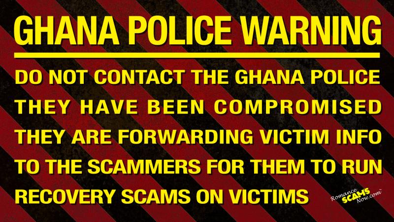 GHANA POLICE WARNING