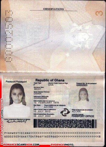 Diana West - Ghana Passport G0002503