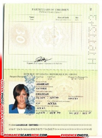 Esther Azabeah - Ghana Passport H1611243