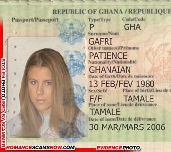 Patience Gafri - Ghana Passport