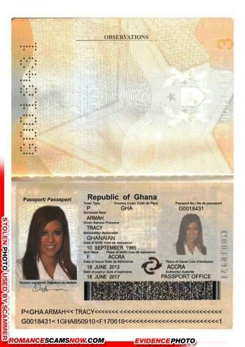 Tracy Armah - Ghana Passport G0018431
