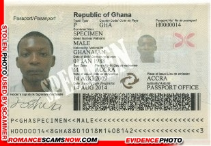 Scam Passport - Male Specimen - Ghana Passport H0000014