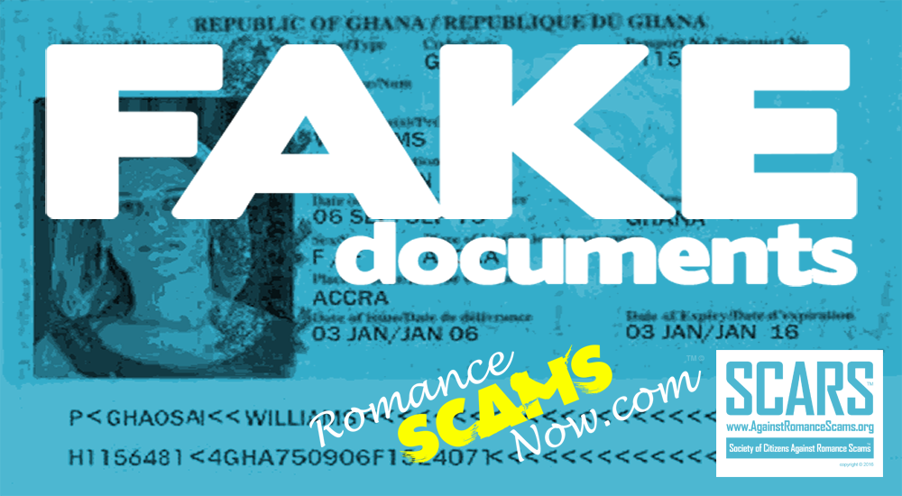 RSN™ Scammer Gallery: Fake Ghanaian Documents 1