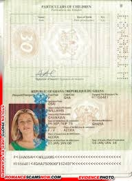 Forged Ghana Passport Williams Osa - Ghana Passport H1156481