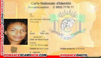SCARS™ Scammer Gallery: Fake Scammer Documents - Ivory Coast #18740 6