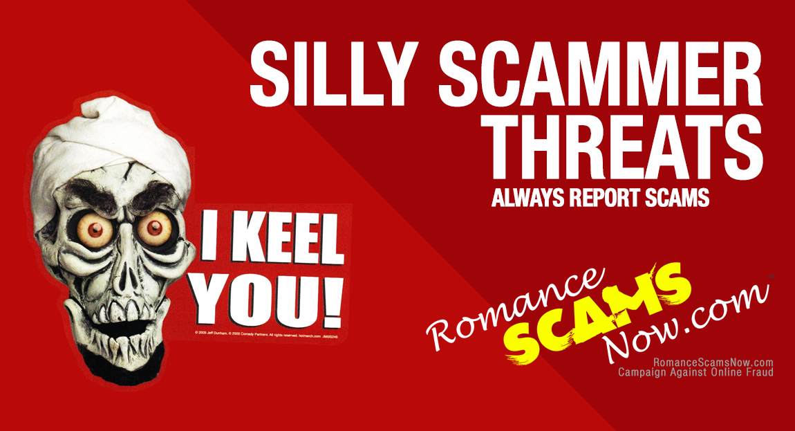 SCARS ™ / RSN™ Anti-Scam Poster: Scammer Threats 143