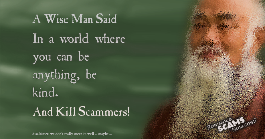 SCARS ™ / RSN™ Anti-Scam Poster: A Wise Man 145