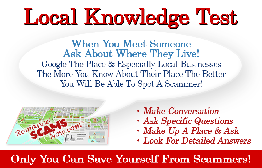 SCARS ™ / RSN™ Anti-Scam Poster: Local Knowledge Test 6