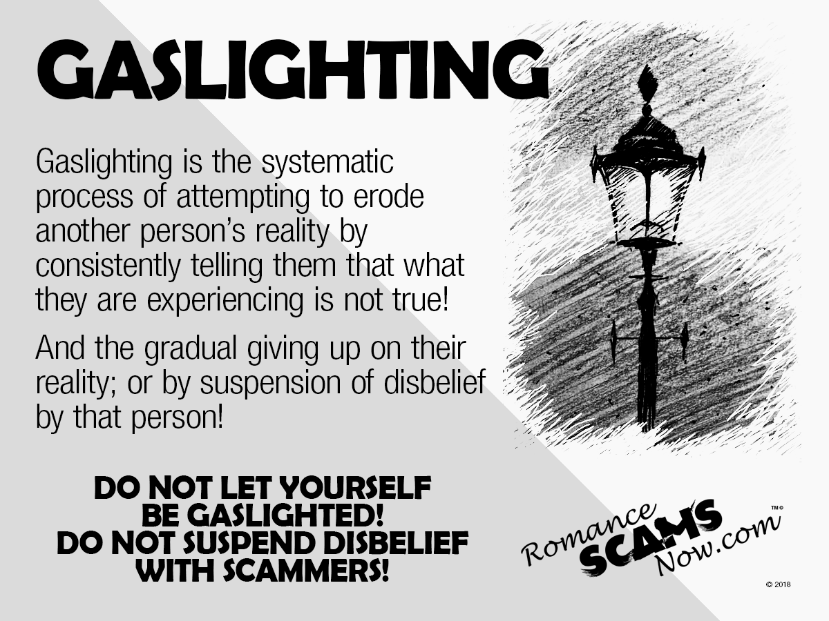 Gaslighting  - Destroying A Victim's Sense Of Reality - A SCARS™ Guide 1