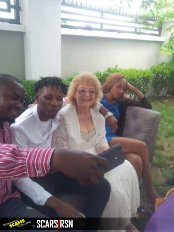 SWEET LOVE : YOUNG NIGERIAN MAN SHOWS OFF HIS OLD WHITE BRIDE (PHOTOS)