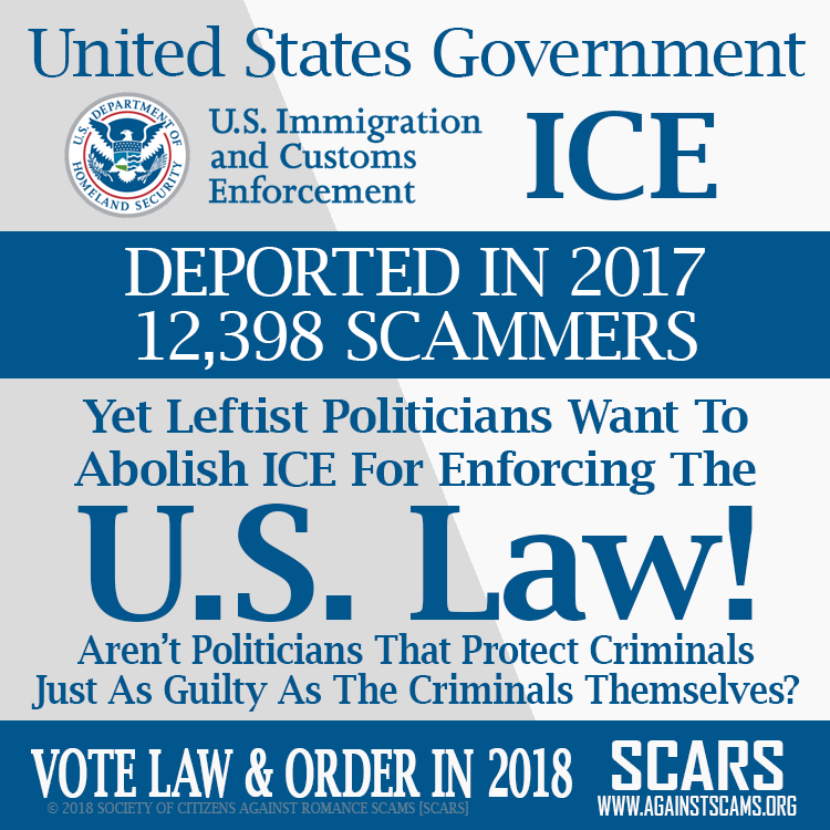 Scammer Deportations From The U.S. By I.C.E. 1