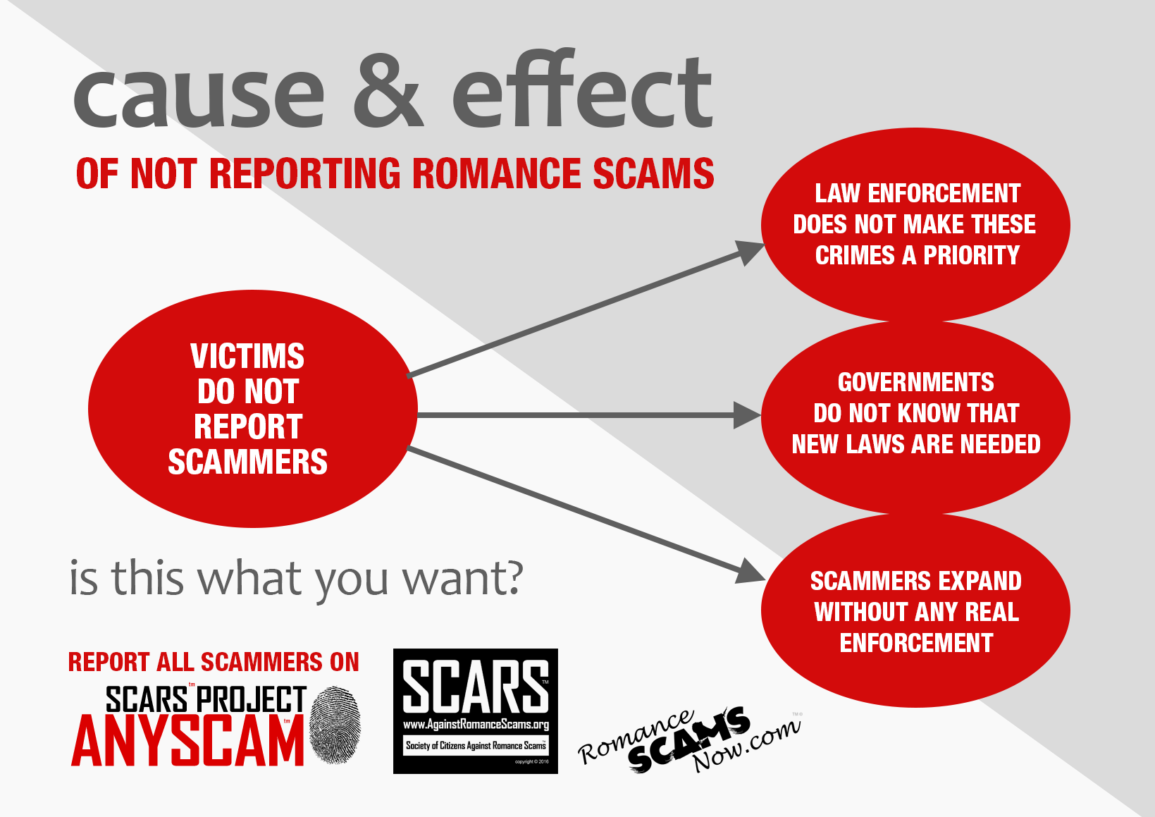 SCARS ™ / RSN™ Anti-Scam Poster: Cause And Effect 1