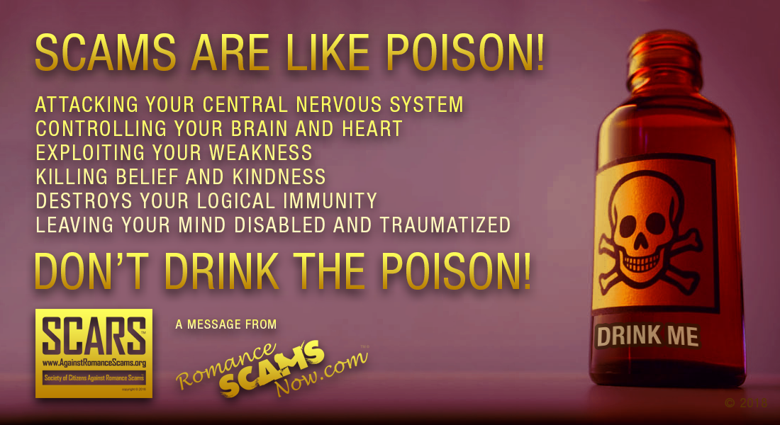 Scams Are Like Poison - Don't Drink The Poison