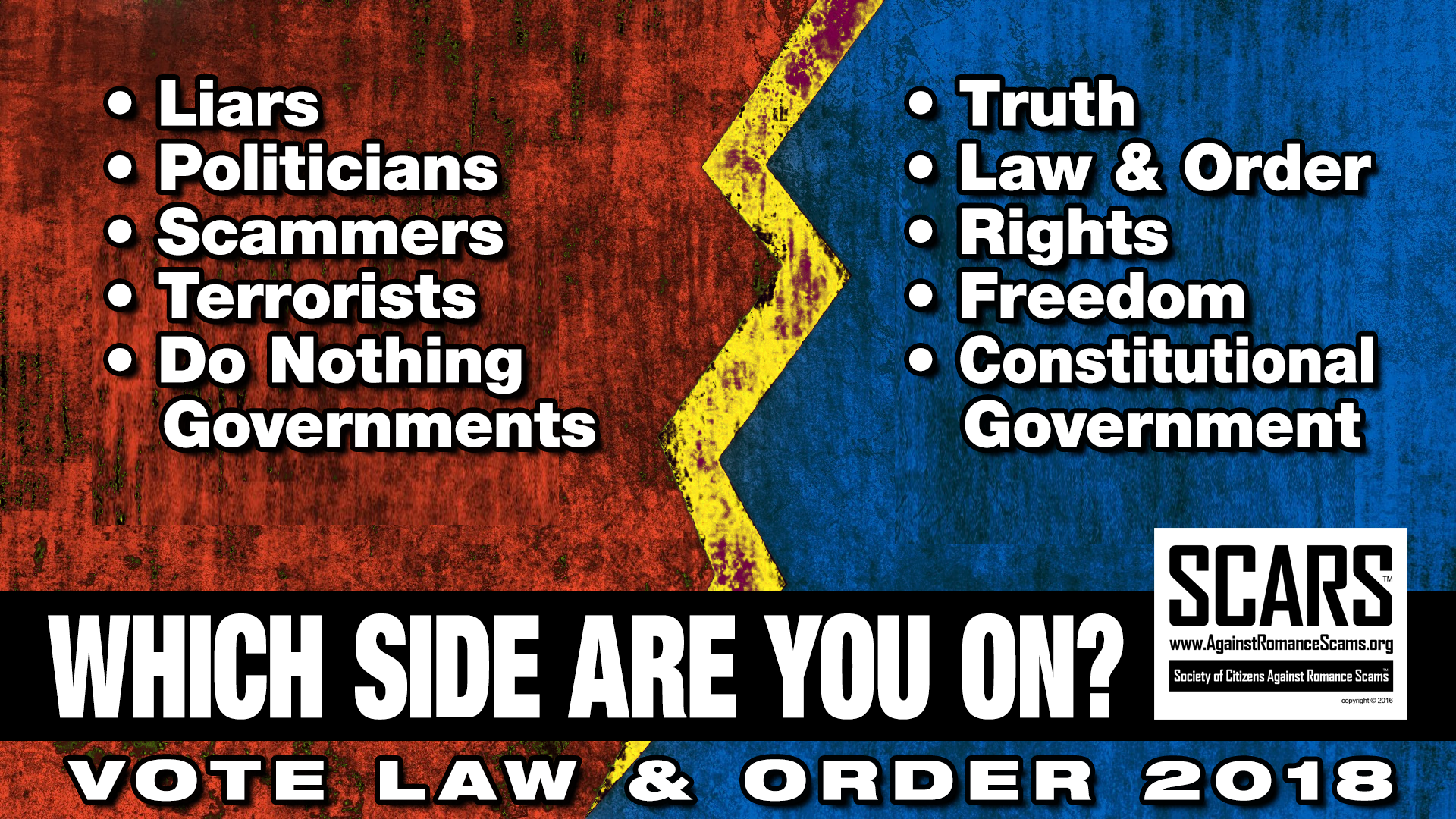 SCARS ™ / RSN™ Anti-Scam Poster: Which Side Are You On? 9