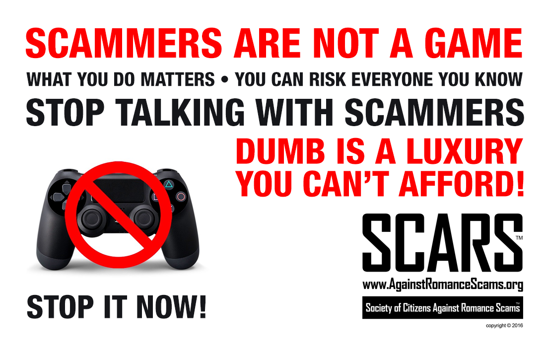 SCARS ™ / RSN™ Anti-Scam Poster 11