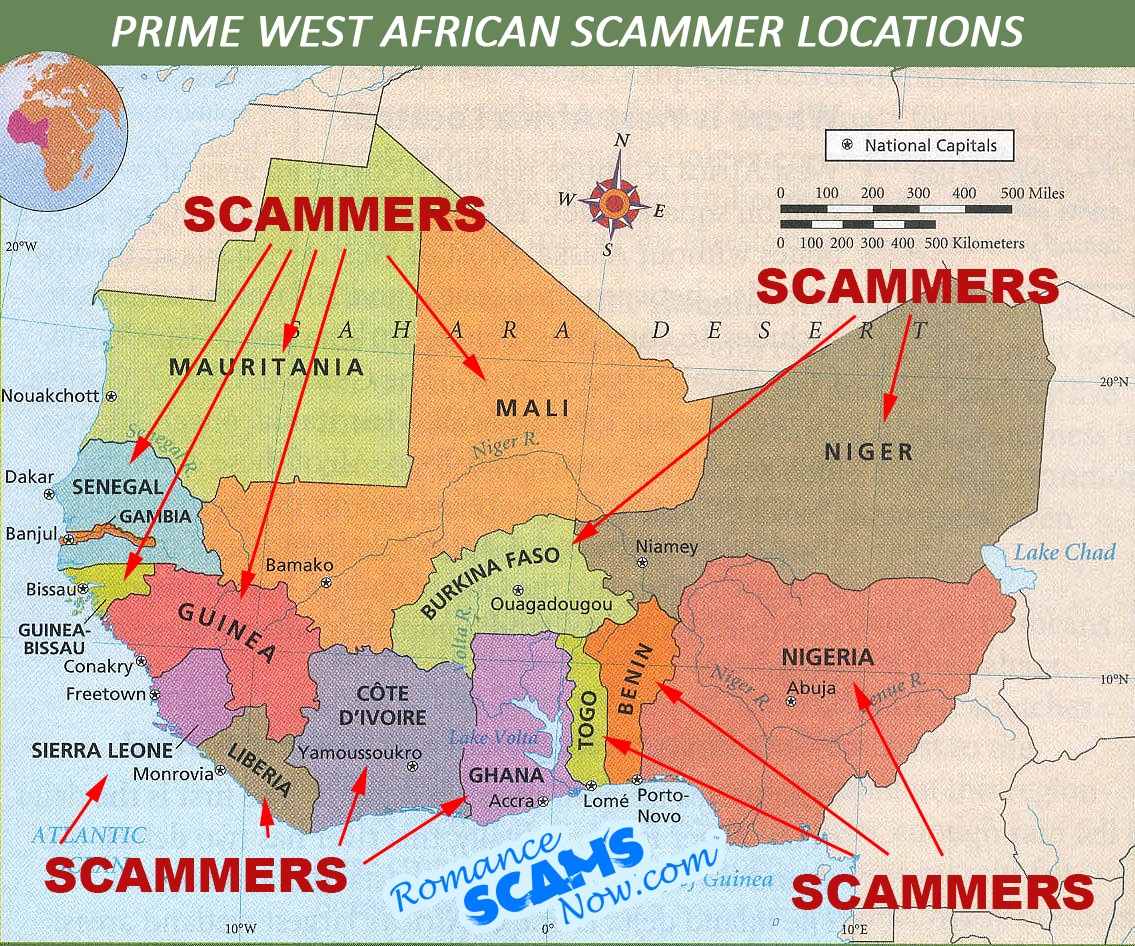 Prime West African Corrupt Scamming Regions
