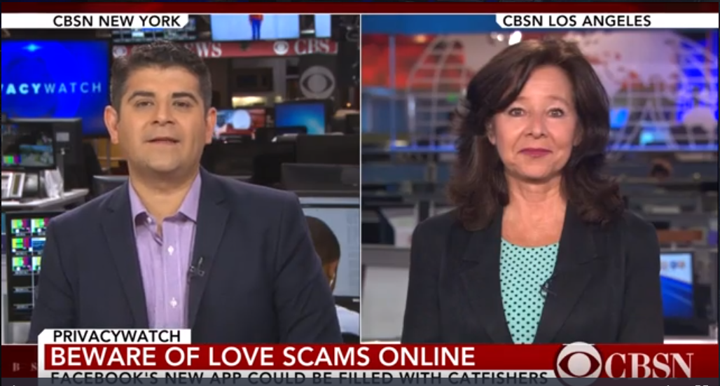 ScamTV Video: CBS News Facebook's Dating Features