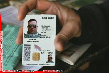 SCARS™ Scammer Gallery: Recent Fake Military IDs #35464 3