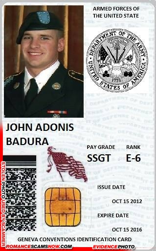 SCARS™ Scammer Gallery: Recent Fake Military IDs #35464 6