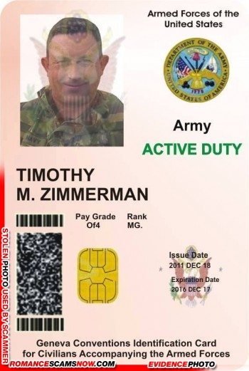 SCARS™ Scammer Gallery: Recent Fake Military IDs #35464 26