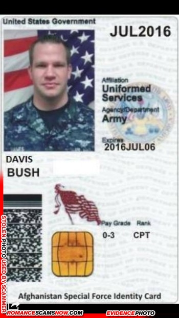 SCARS™ Scammer Gallery: Recent Fake Military IDs #35464 28