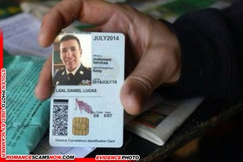 SCARS™ Scammer Gallery: Recent Fake Military IDs #35464 5