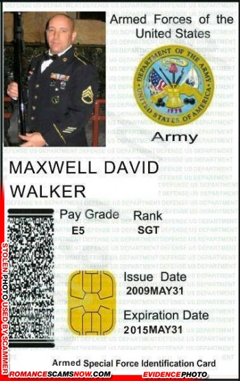 SCARS™ Scammer Gallery: Recent Fake Military IDs #35464 22