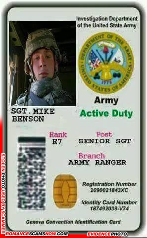 SCARS™ Scammer Gallery: Recent Fake Military IDs #35464 7