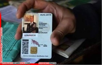 SCARS™ Scammer Gallery: Recent Fake Military IDs #35464 4