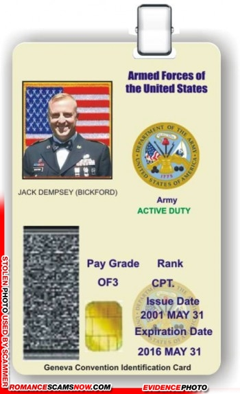 SCARS™ Scammer Gallery: Recent Fake Military IDs #35464 24