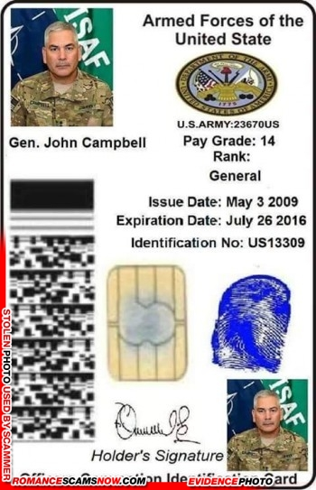 SCARS™ Scammer Gallery: Recent Fake Military IDs #35464 12