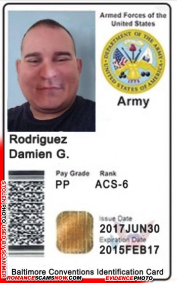SCARS™ Scammer Gallery: Recent Fake Military IDs #35464 29