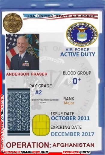SCARS™ Scammer Gallery: Recent Fake Military IDs #35464 8