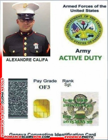 SCARS™ Scammer Gallery: Recent Fake Military IDs #35464 27