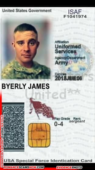 SCARS™ Scammer Gallery: Recent Fake Military IDs #35464 11