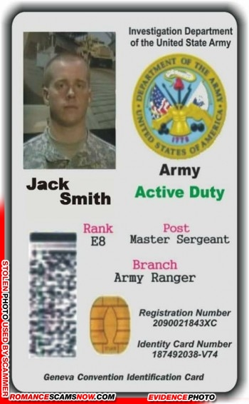 SCARS™ Scammer Gallery: Recent Fake Military IDs #35464 23