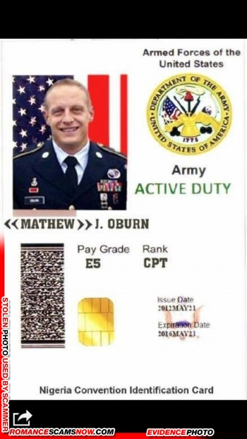 SCARS™ Scammer Gallery: Recent Fake Military IDs #35464 25