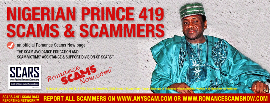 Nigerian Prince 419 Scams & Scammers ::: a Romancescamsnow.com RSN page