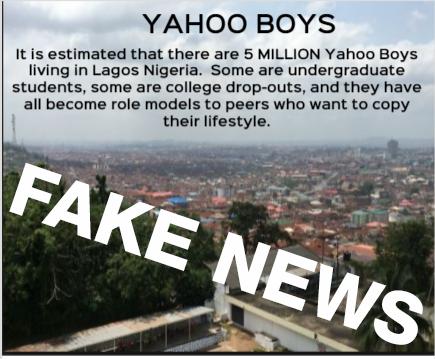 5-million-yahoo-boys in Lagos Nigerian - Fake News