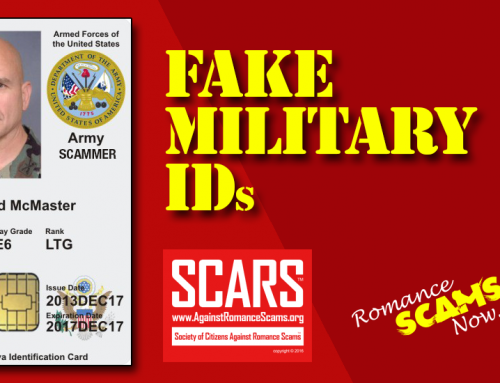 SCARS RSN™ Scammer Gallery: Recent Fake Military IDs #35464