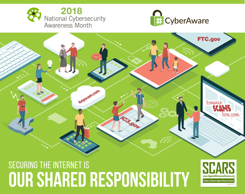 NCSAM National Cyber Security Awareness Month 2018 Poster