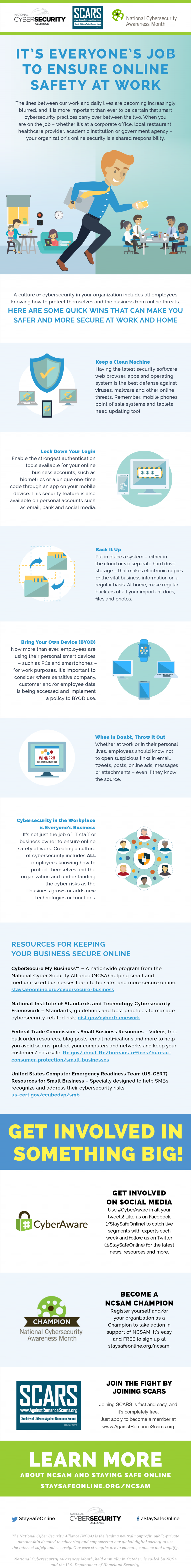 IT'S EVERYONE'S JOB TO ENSURE ONLINE SAFETY AT WORK