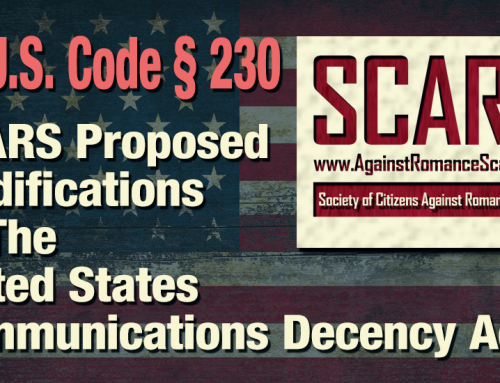 SCARS™ Publishes Proposed Changes To The Communications Decency Act