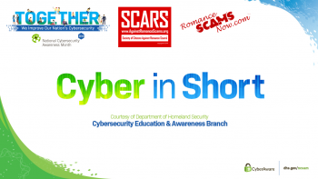 National Cyber Security Awareness Month - October 2018 1