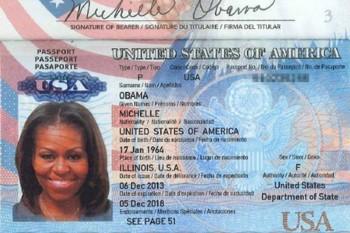 Michelle Obama U.S. Passport