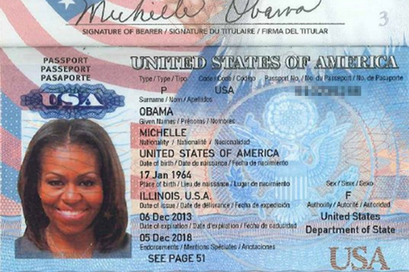 Michelle Obama U.S. Passport