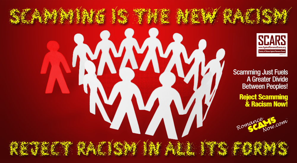 SCARS ™ / RSN™ Anti-Scam Poster: The New Racism 111