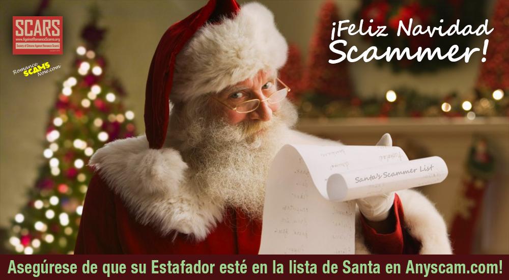 SCARS ™ / RSN™ Anti-Scam Poster: Santa 1
